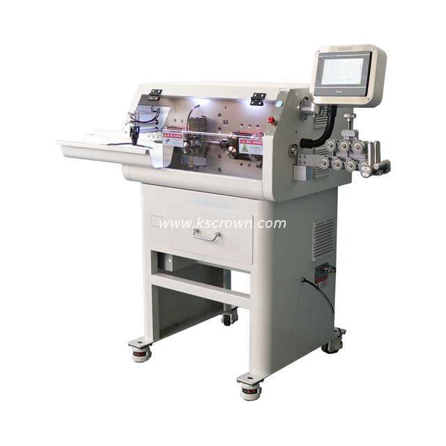 Multi-conductor Cable Cut and Strip Machine with Mechanical Arm