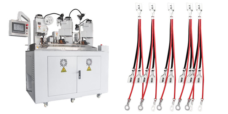 Five Ends Four Wires Combined Terminal Crimping Machine