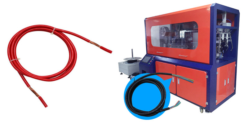All-in-one Cable Cutting Stripping Coiling and Tying Machine